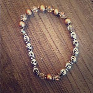Beaded bracelet with Laguna Beach lettering